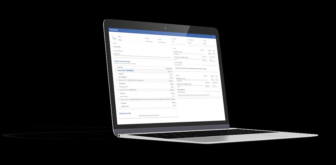 laptop exibindo o Gemed Farma web