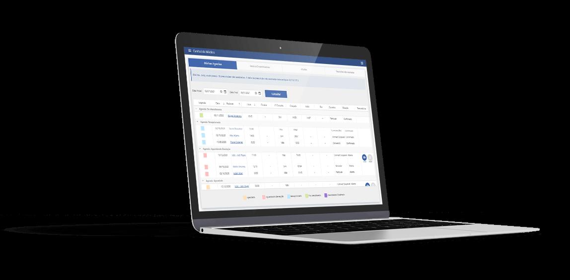 Notebook exibindo tela inicial do Gemed Onco web